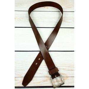 Vintage Timberland leather belt tan